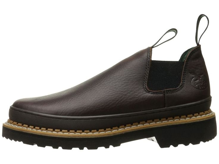 Georgia Boot GR262 Georgia Giant Romeo Men's Slip on Shoes Brown
