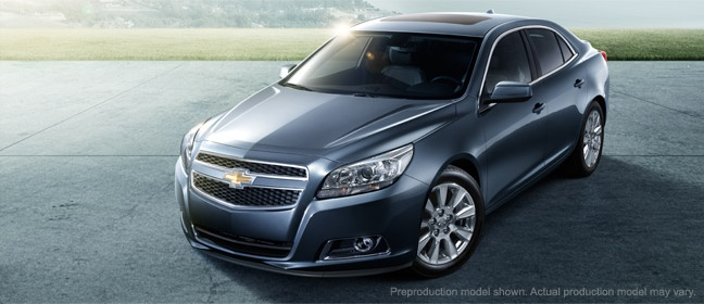 2013 Chevy Malibu. About time it got a little attitude and a few of the Camero styling cues!