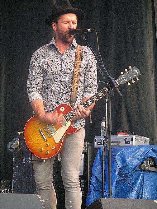 John-Angus MacDonald of the Trews, Kempenfest, Barrie, ON, Aug 4/17. Taken by us.
