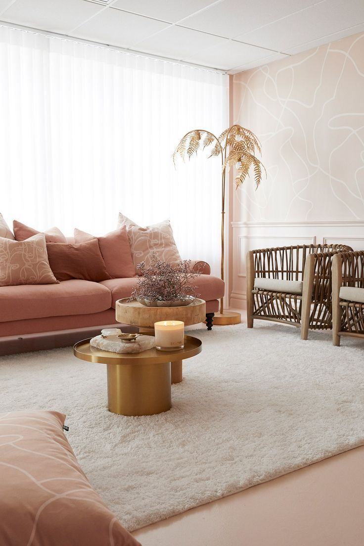 Home Decor You Ll Love In 2020 In 2020 Pink Living Room Wallpaper Living Room Living Room Designs Living room re design