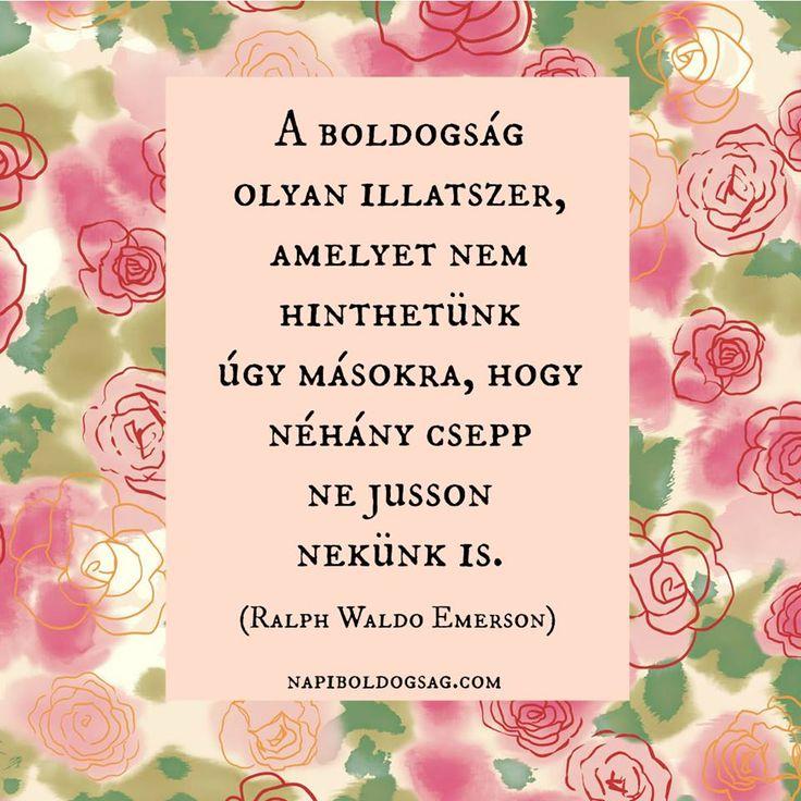 Ralph Waldo Emerson idézete a boldogságról. A kép forrása: Napi Boldogság