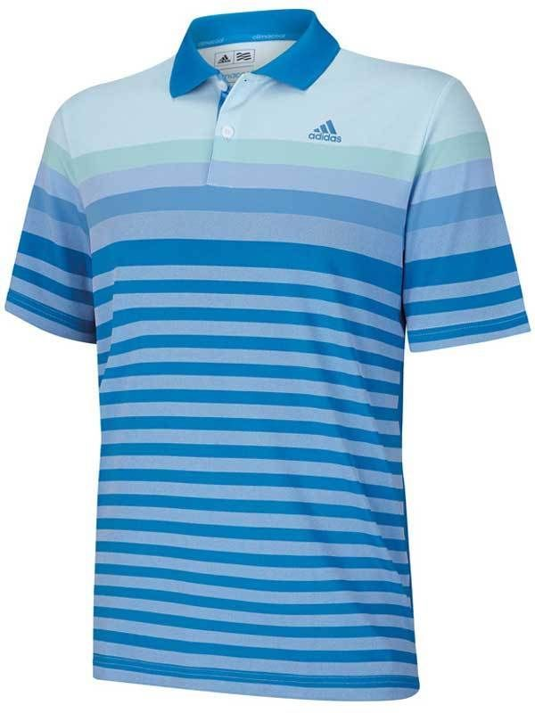 The Taylormade Adidas Birdseye Golf Polo in Bahia Blue-perfect for summer  golf! $75