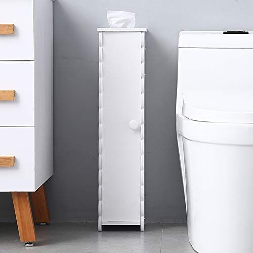 White Small Bathroom Storage Corner Floor Cabinet With Doors And Shelves Toilet Small Bathroom Storage Bathroom Floor Cabinets Narrow Bathroom Storage Cabinet