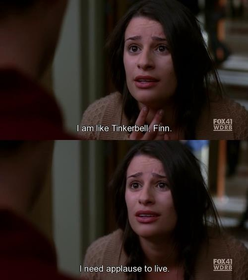 One of the best Rachel Berry quotes of all time. Love her.