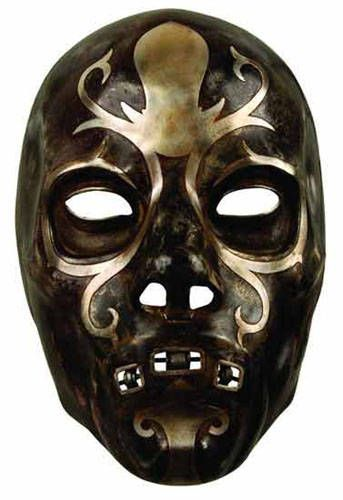 This is a DIY Death Eater Mask, cool, and creepy.