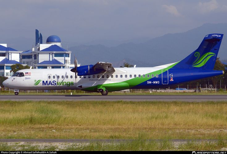 MASwings (MY) ATR 72-500 (72-212A) 9M-MWG aircraft, named ''Sipadan'', with the sticker ''1'' on the airframe, skating at Malaysia Kota Kinabalu International Airport. 21/02/2015. (Sipadan=the only Oceanic Island of Malaysia).