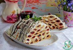 Блинный торт с вишней