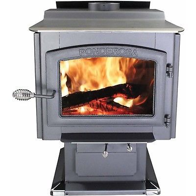 Ponderosa 2000 Sw. Ft. EPA Certified Wood Stove with Blower NO TAX
