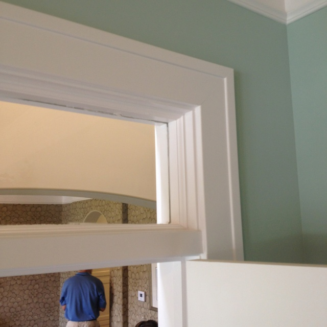 Simple Door Casing With Raised Edge Kitchen Baseboard