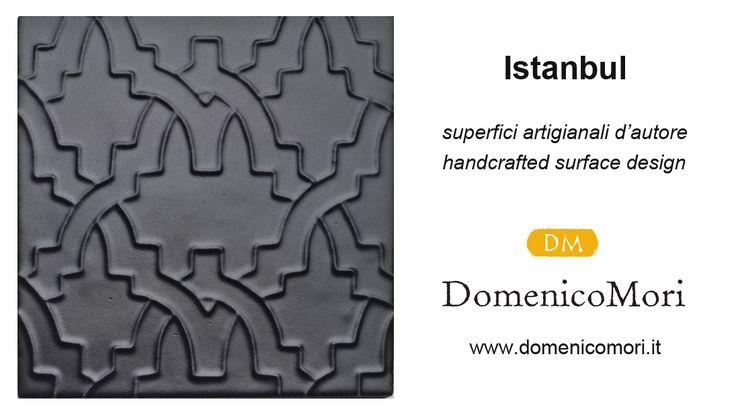 """""""Istanbul"""" matt black """"Le mille e una notte"""" collection #DomenicoMori handcrafted surface design."""