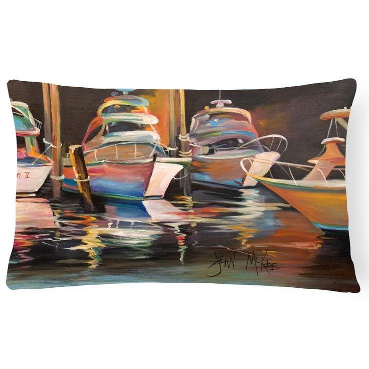 Carolines Treasures Sea Chase Deep Sea Fishing Boats Rectangle Decorative Pillow - JMK1076PW1216