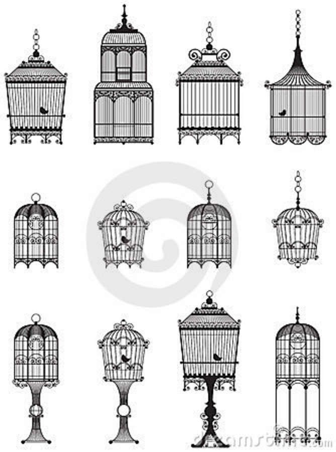 Vintage Bird Cages Royalty Free Stock Images - Image: 23867359