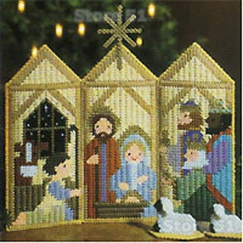 LA Christmas in Plastic Canvas Book 1 Leaflet 1478, Nativity Triptych