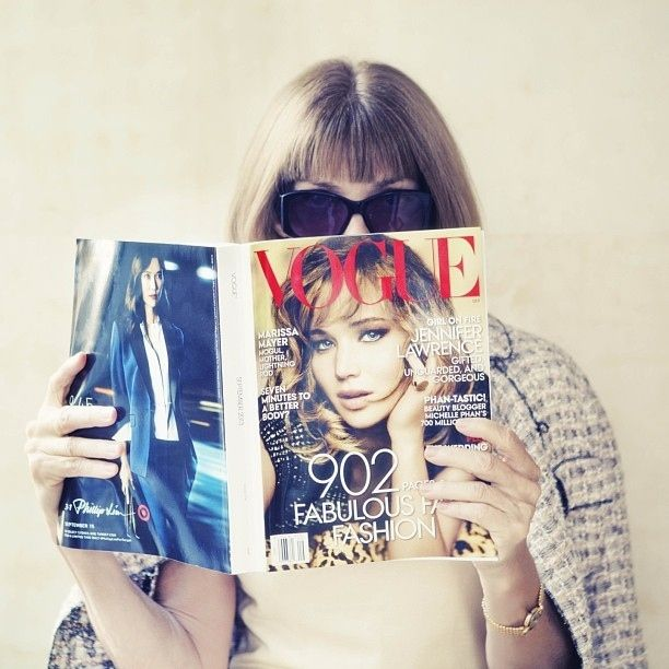 Anna with the infamous September issue