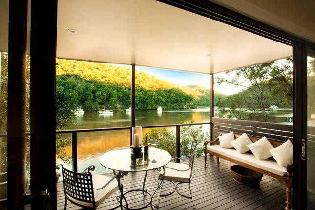 Boast accessible only @ The LOWER DECK | Berowra Waters, NSW | Accommodation. 2014 National Outdoor Winner. From $550 per night. Sleeps 2.