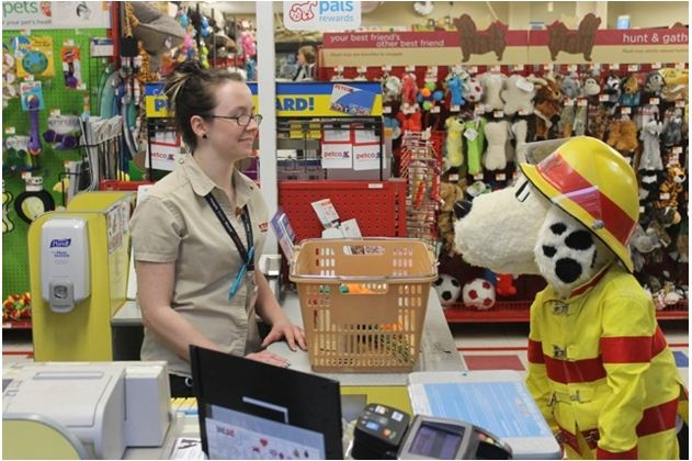Sparky shopping at Petco during his free time!