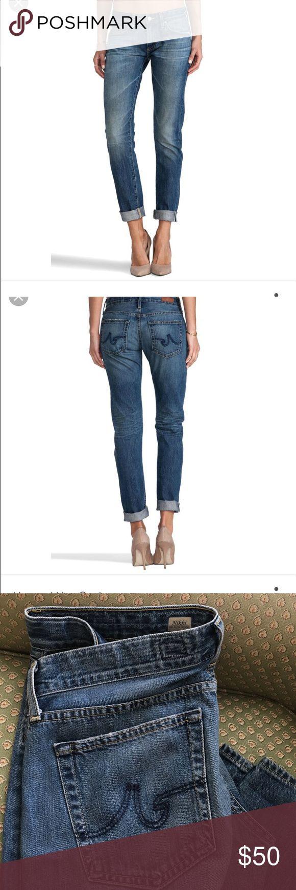 AG Nikki Relaxed slim boyfriend.  Great condition Very comfortable and stylish boyfriend jeans!  Size 30x33 AG Adriano Goldschmied Jeans Boyfriend