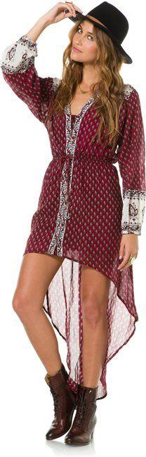 wear with pants BILLABONG PRETTY AMAZING LONG SLEEVE MAXI DRESS > Womens > Clothing > Dresses | Swell.com