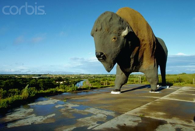 Giant buffalo in Jamestown, North Dakota