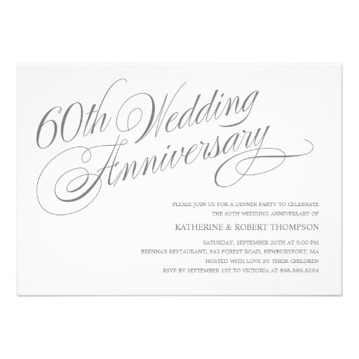 16 Best 60Th Wedding Anniversary Invitations Images On Pinterest