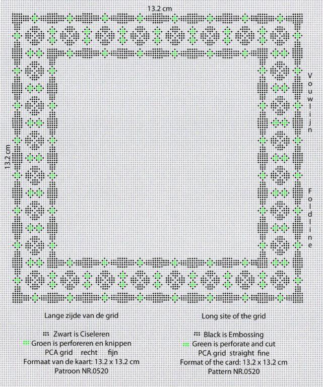 Patroon Annie 0520a PCA grid recht fijn