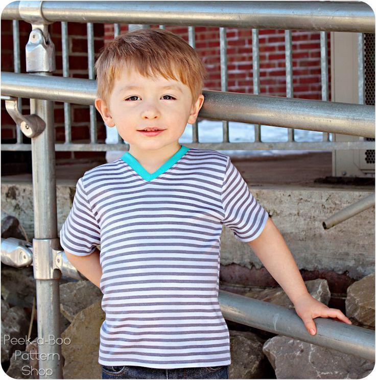 Play Date V-Neck Tee: V-Neck Tee Shirt Pattern, Boys Shirt Pattern, Girls Shirt Pattern, Baby Shirt Pattern by PeekabooPatternShop on Etsy https://www.etsy.com/listing/107468036/play-date-v-neck-tee-v-neck-tee-shirt