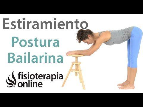 Postura de bailarina. Estiramiento de isquiotibiales. | Fisioterapia Online