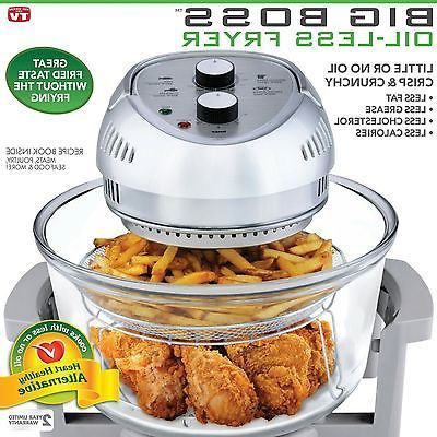 Big Boss 8605 1300-Watt High-Speed,Oil-Less Fryer, 16-Quart Capacity (grey)#bigboss#deepfryer#cooking