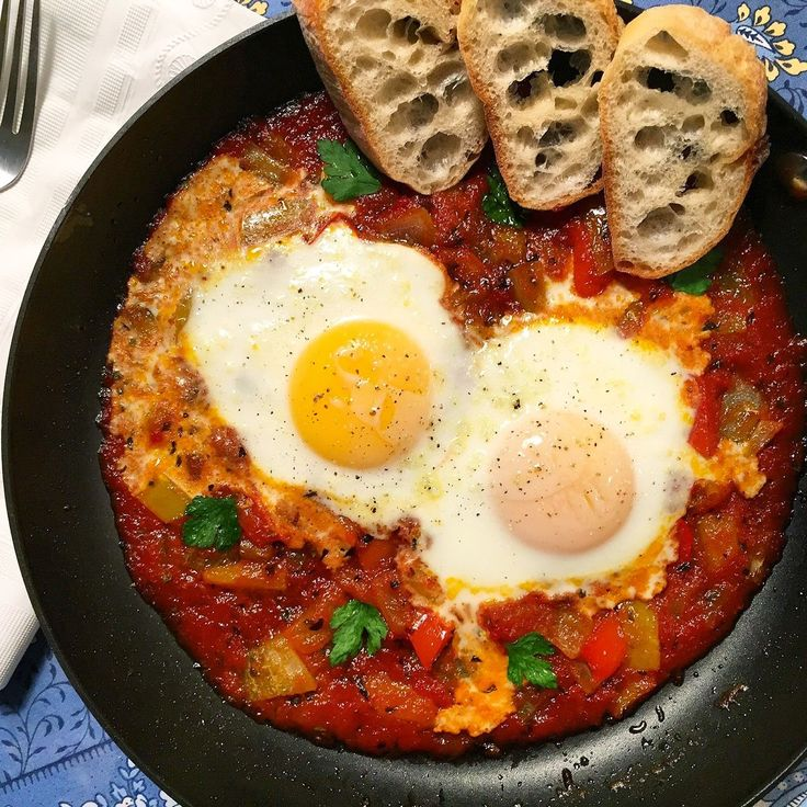 Ciao Chow Linda - Eggs in Purgatory - quick, delicious and nutritious
