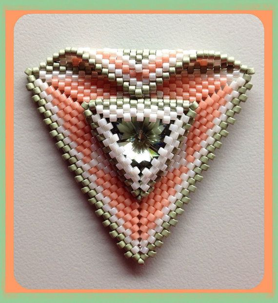 Triangle pendant by BeadSplashHCJ on Etsy, $40.00