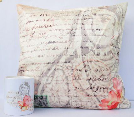 Leisure Cushion and Coffee Mug #Launchpad #PerInchDesignStudio