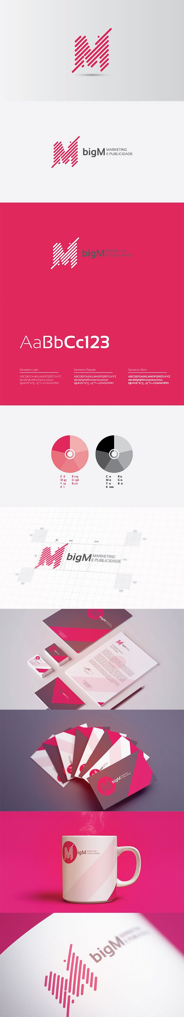 """bigM is a small advertising agency based in Maputo - Mozambique. NSV Design was in charge of suggesting the name of the agency as well as developing the company's corporate identity. The name of the agency derived from the """"Marketing with big M"""" concept. As well, the logo concept was inspired in the various interconnectivities of the marketing campaigns and their chosen media which help on the development of the brand/products. This is the final artwork developed for bigM.  Enjoy"""
