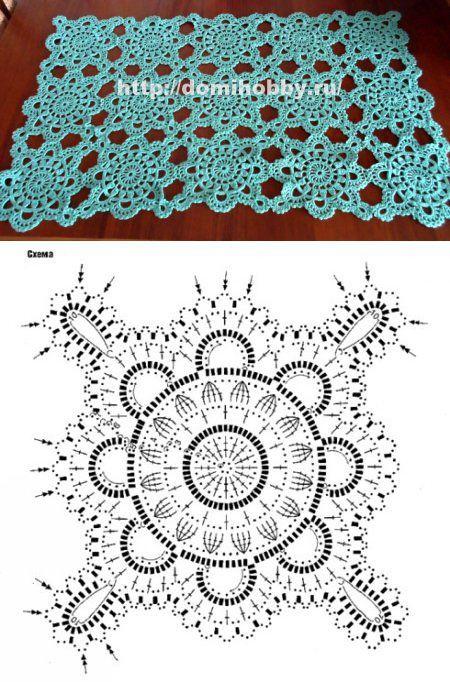 Кружевной четырехугольный мотив