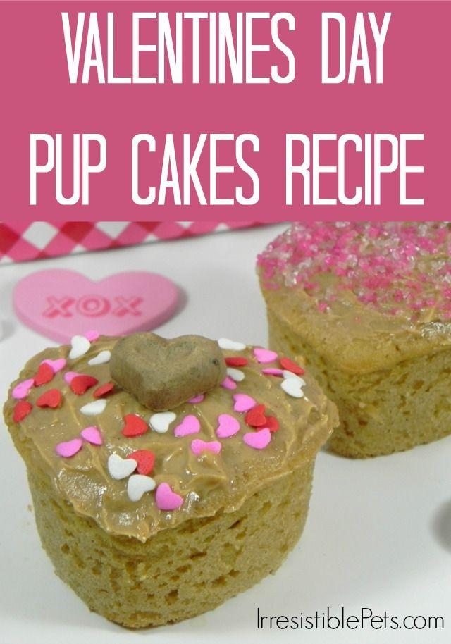 valentines day pup cakes recipe via irresistiblepetscom