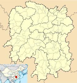 Zhengxiang is located in Hunan