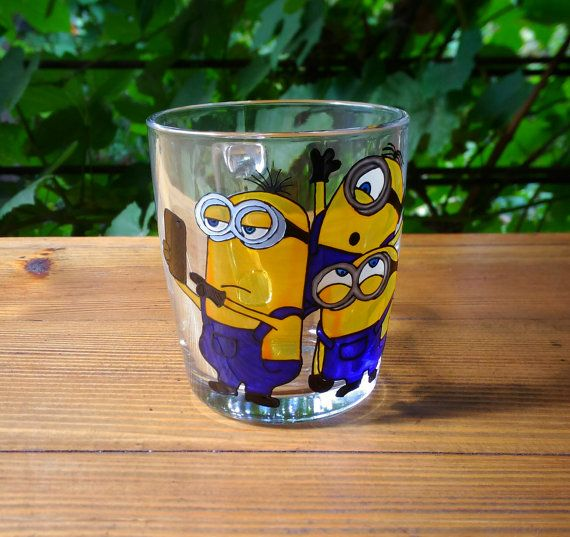 Minion  Mug Hand Painted Gift Coffee Tea Handmade 73 от ArtGlassCo