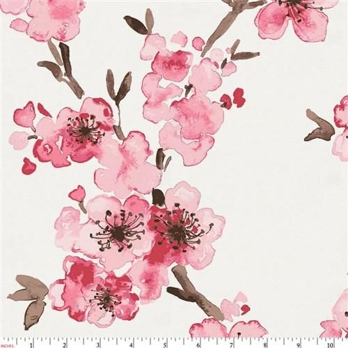 Pink Cherry Blossom Fabric by the Yard
