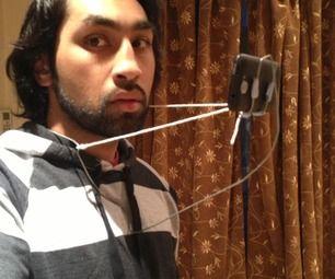 Wire coat-hanger hands free phone holder