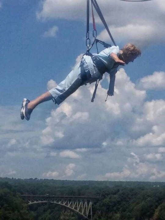 Molly Lock, a 96 year and 9-month old mother, grandmother and great-grandmother proved today, that you are never too old to have fun! Molly became the oldest adventurer to do a Wild Horizons Flying Fox. Molly was born in Harare - 6th May 1920 and is a mother of 6, grandmother of 20 and great-grandmother of 2! Congratulations Molly - here's to many more adventures :). #yolo #thingstodoinvictoriafalls #victoriafalls #wildhorizons #zimbabwe