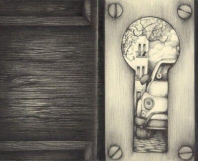 Wat ziet piet door het sleutel gat?