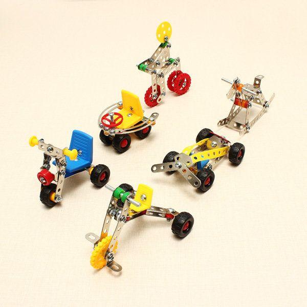 魔法のモデルDIYの金属アセンブリ車の金属ブロック教育おもちゃ Sale - Banggood携帯