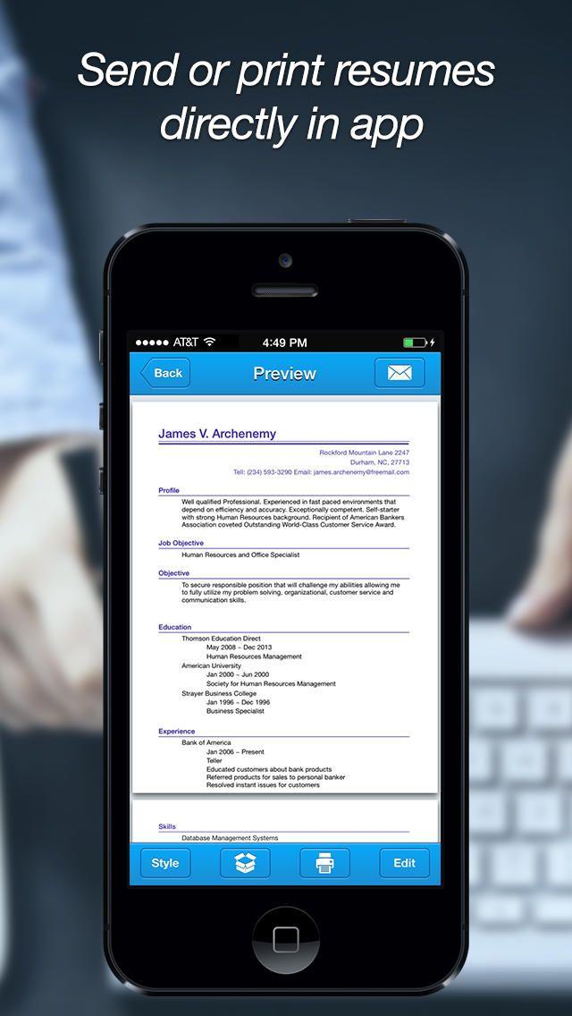 39 best resumecv apps images on pinterest apps website and resume