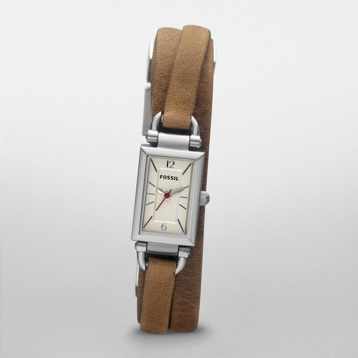 cool Montre pour femme : FOSSIL® Watch Styles Leather Watches:Women Delaney Leather Watch - Tan JR13...
