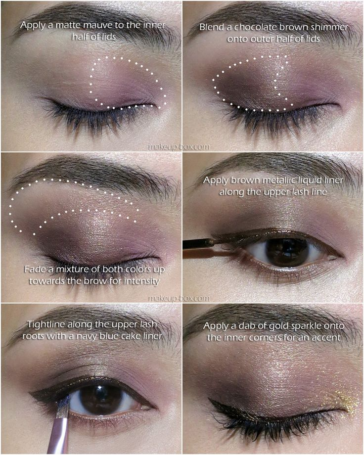A Step By Of The Coffee Cocoa Eye Look Using Laura Mercier Colour