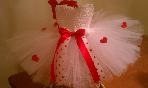 Be Mine Red and White Heart Valentine Tutu by PinkMonkeyShoppe, $32.00