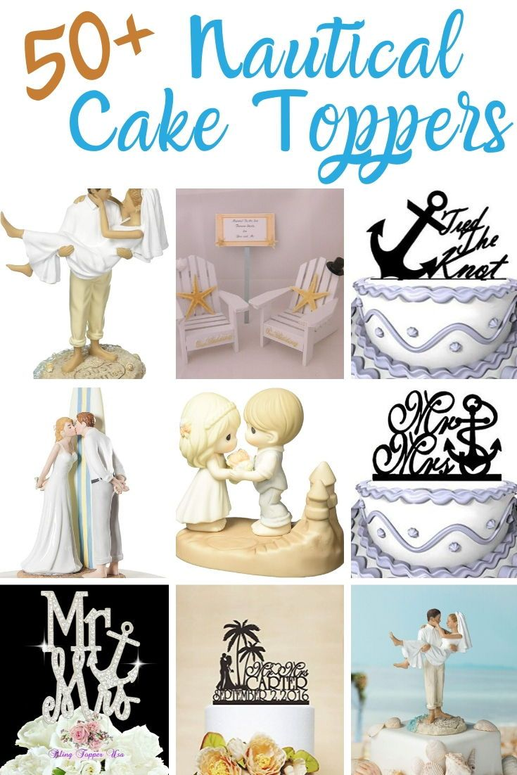 Beach Wedding Cake Toppers Nautical Cake Toppers Beachfront Decor In 2020 Wedding Cake Topper Nautical Beach Wedding Cake Toppers Beach Wedding Cake