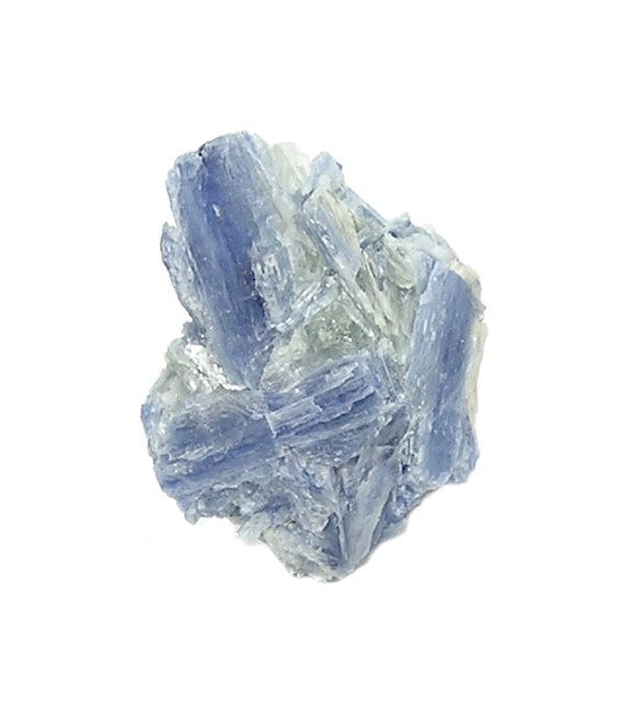 Blue Kyanite Crystal Crossed Blades in Mica Rock by FenderMinerals
