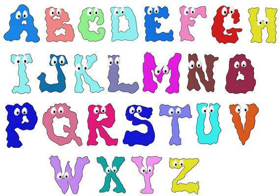 Crazy Blob Alphabet Machine Embroideries by Letzrock by Letzrock