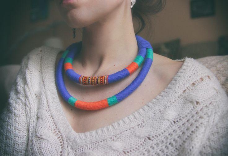 color tribal nomadic necklace  https://www.facebook.com/kolo.handmades?ref=hl