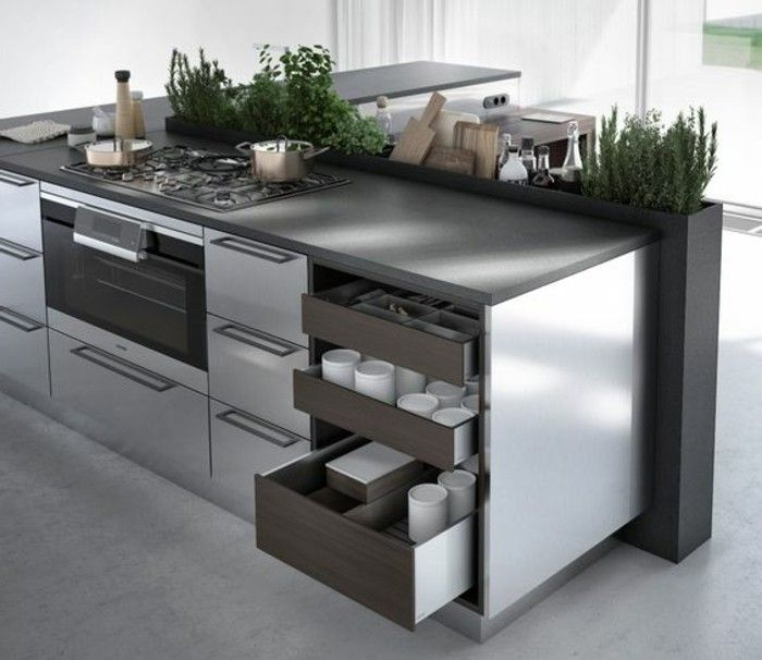 103 best Küche images on Pinterest Kitchen modern, Kitchen - versenkbare steckdosen küche